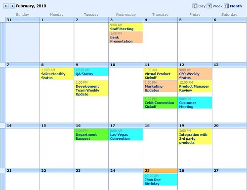 Weekly Calendar View Sharepoint : Print multiple sharepoint calendars with event calendar
