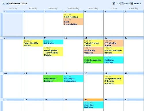 Weekly Calendar View Sharepoint : Print multiple sharepoint calendars with event calendar